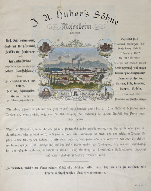 Anonymus  I.U. Huberts Söhne Rosenheim ( Bayern)
