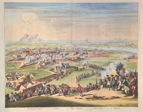 Merian Matthäus Kayserl. Belagerung der Statt und Festung Philipsburg