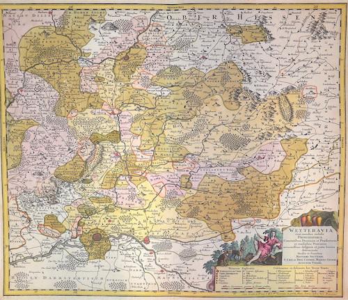 Seutter Matthias Wetteravia com omnibus inclusis Principatibus, Comitatibus, Dominiis et Praefecturis,
