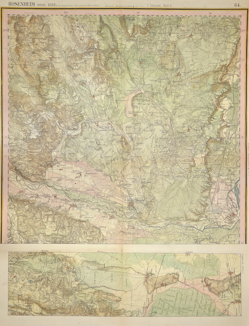 Linbrunn  Rosenheim (west) 1882 / I. Division Blatt 3 / 84.