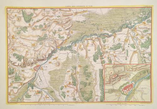 Dyonnet  Carte des Environs d'Ulm