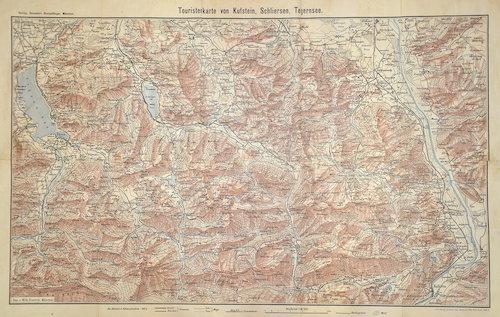 Roth  Touristenkarte von Kufstein, Schliersee, Tegernsee.