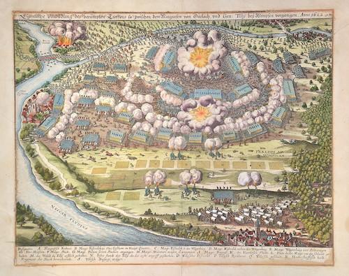 Merian Matthäus Eigentliche Vorbildung des berümpten Treffens so zwischen dem Margrafen von Durlach, und Gen Tilly bey Wimpfen vorgangen. Anno 1622