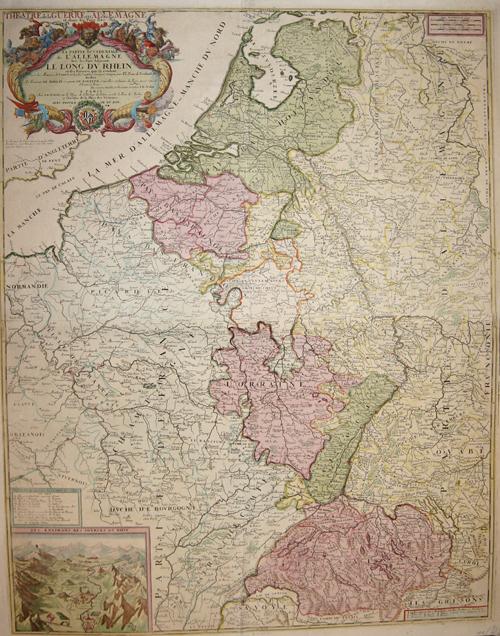 Nolin Jean Baptiste La Partie Occidentale de L' Allemagne le long du Rhein