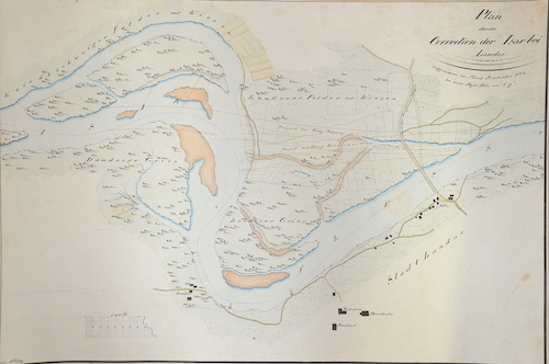 Rochy  Plan über die Correction der Isar bei Landau