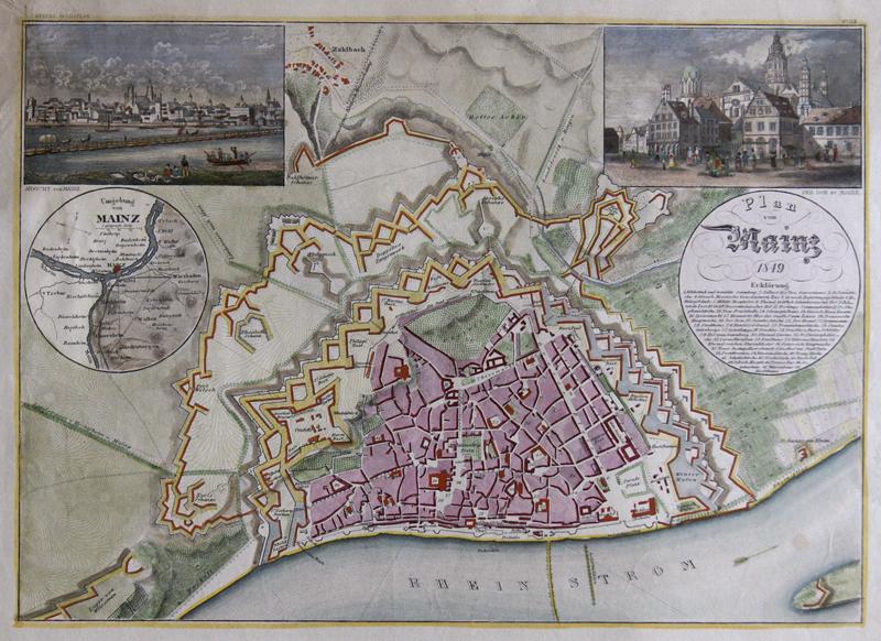 Mayer  Plan von Mainz 1849