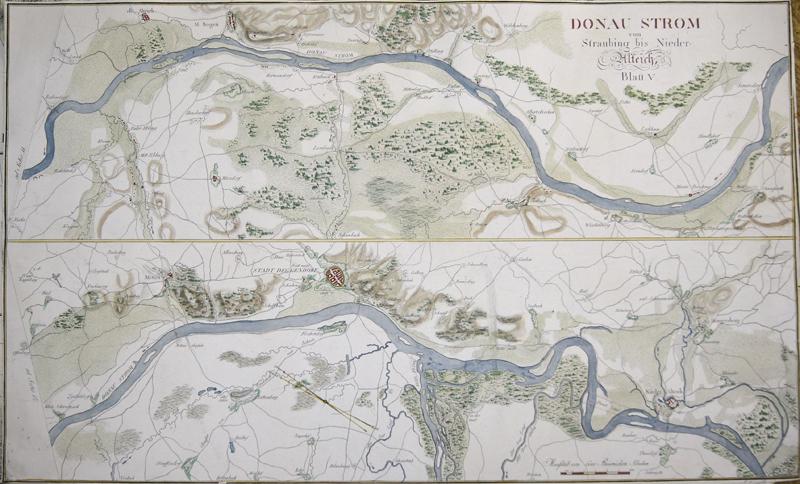 Riedl  Donau Strom von Straubing bis Nieder-Alteich, Blatt V.