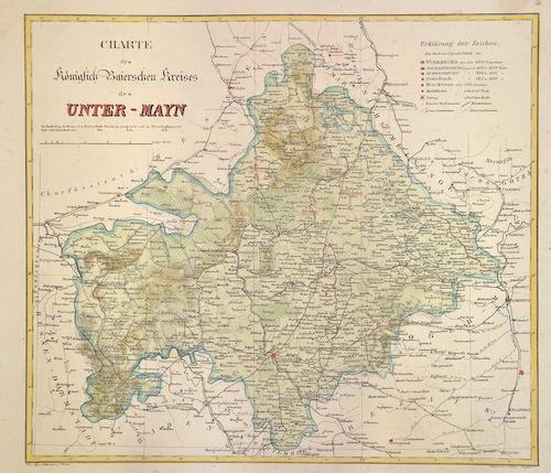 Platt  Charte des Königlich Baierschen Kreises des Unter-Mayn