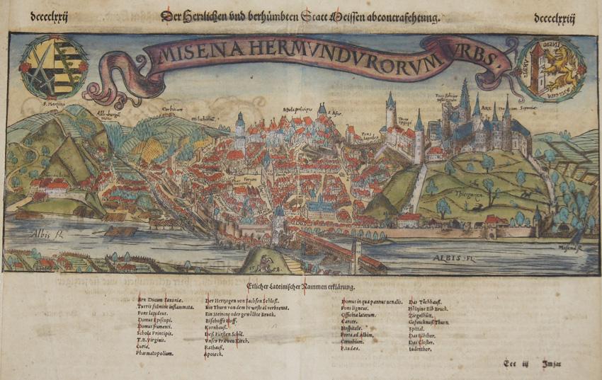 Münster Sebastian Der Herzlichen und berhümbten Statt Meissen abcontrafehtung. Misena Hermundurorum Urbs.