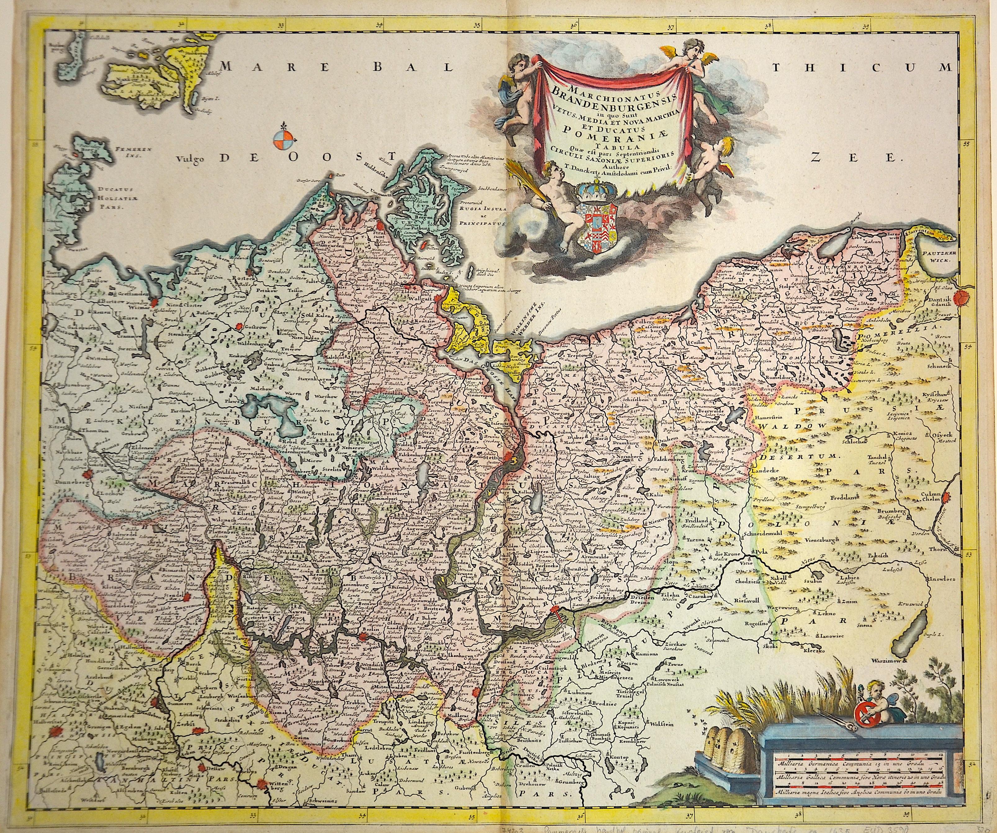 Danckerts Theodorus Marchionatus Brandenburgensis in quo sunt vetus, media et Nova Marchia et Ducatus Pomeraniae Tabula