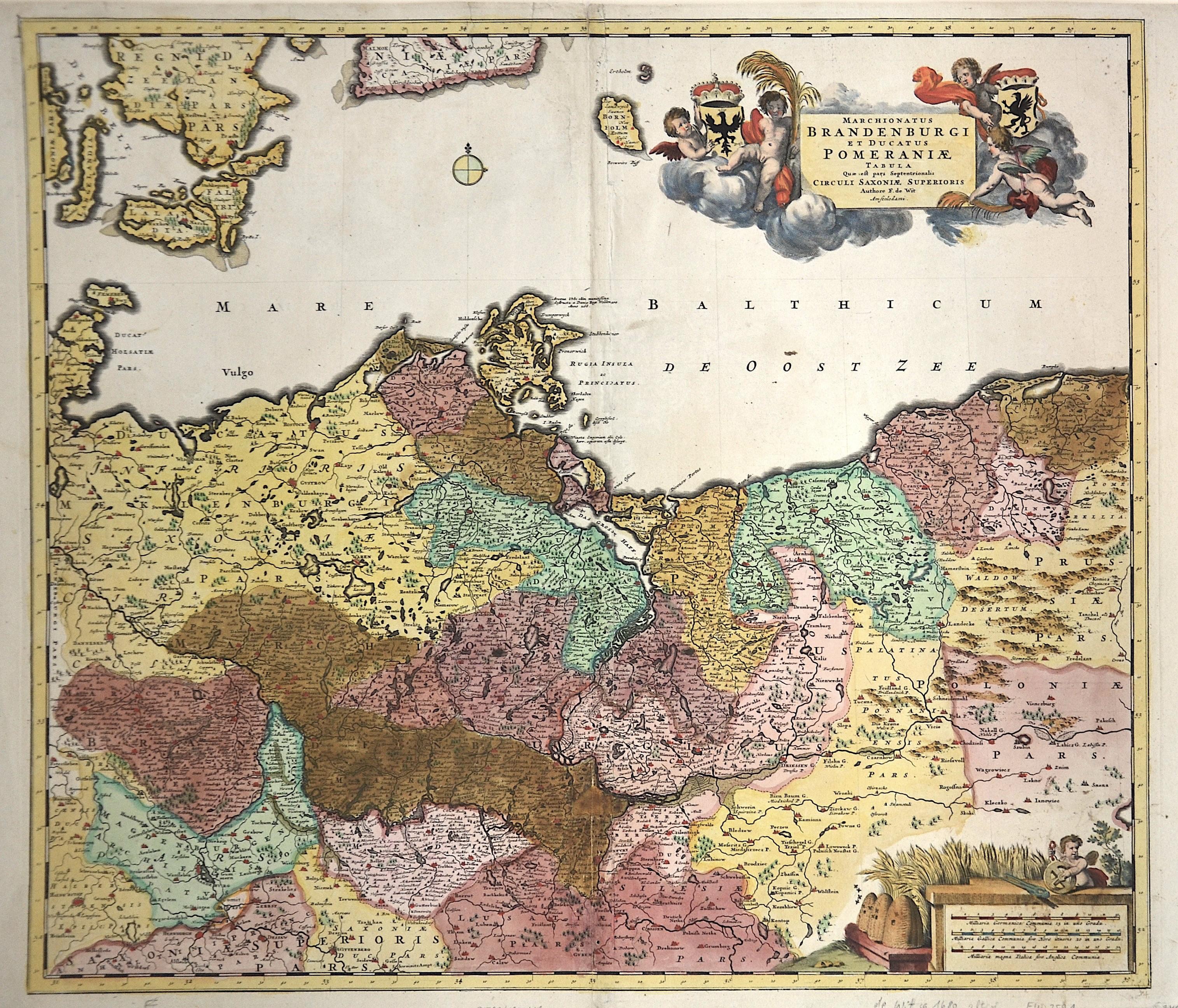 Wit, de Frederick Marchionatus Brandenburgi et Ducatus Pomeraniae Tabula