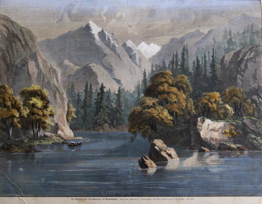 Zimmermann  Der Königssee mit dem Watzmann bei Berchtesgaden.