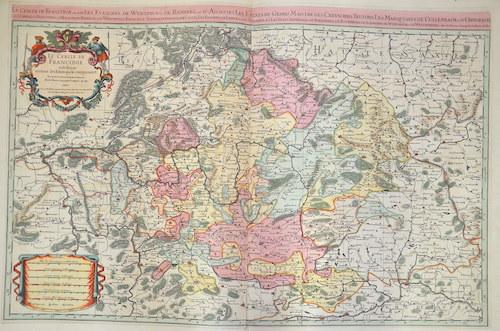 Sanson/ Jaillot, Charles Hubert  Le Cercle de Franconie ou sont les Eveschés de Wurtzburg, de Bamberg, et d'Aichstett,…