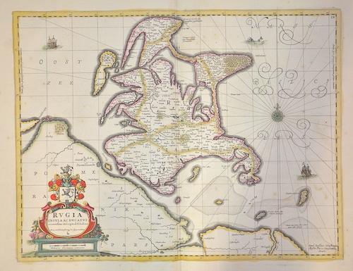 Janssonius/ Pitt Moses Johann Rugia Insula ac Ducatus accuratissime descripta ab E. Lubino.