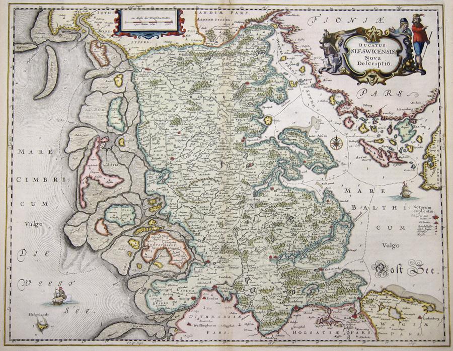 Janssonius/Mercator-Hondius, H.  Ducatus Sleswicensis nova descriptio.
