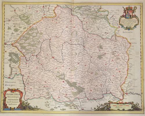 Janssonius/Mercator-Hondius, H.  Franconiae Nova Descriptio Amstelodami.