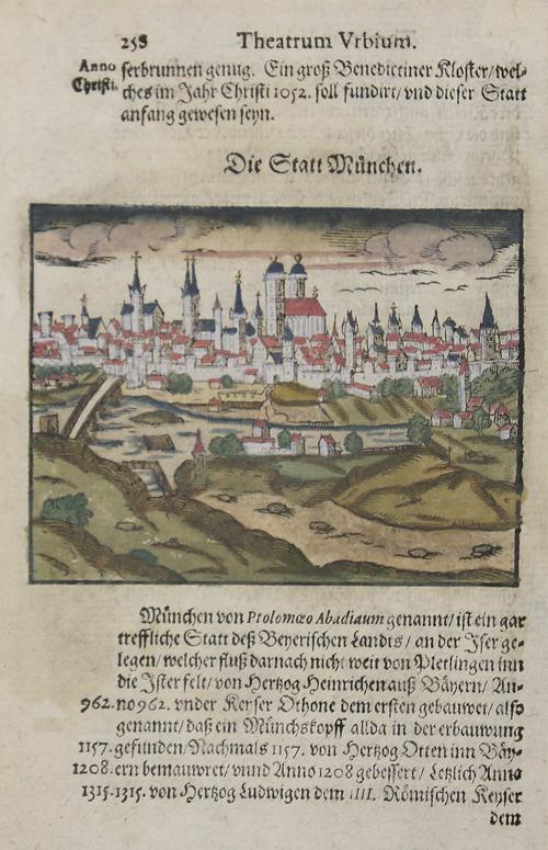 Münster  Die Statt München. Theatrum Urbium.