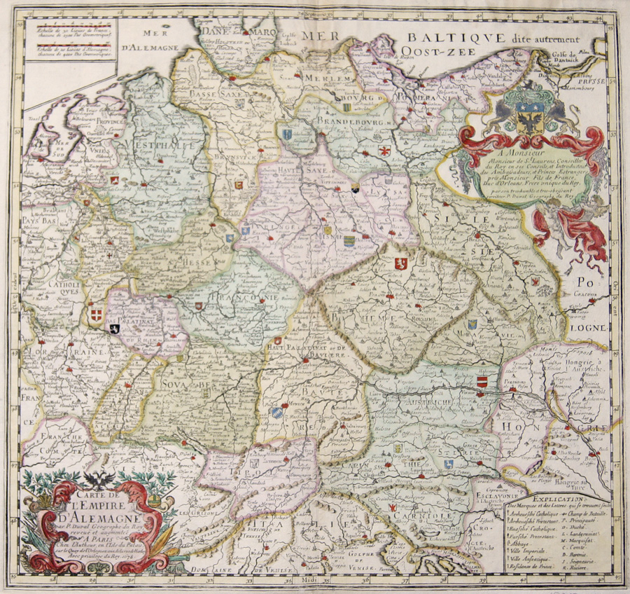 Duval Pierre Carte de l'Empire d'Alemagne