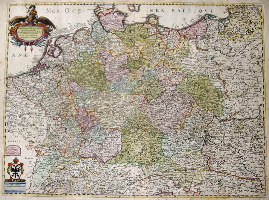 Jaillot  Carte Generale de Haute et Basse Allemagne et Pays Corconvoisins,…