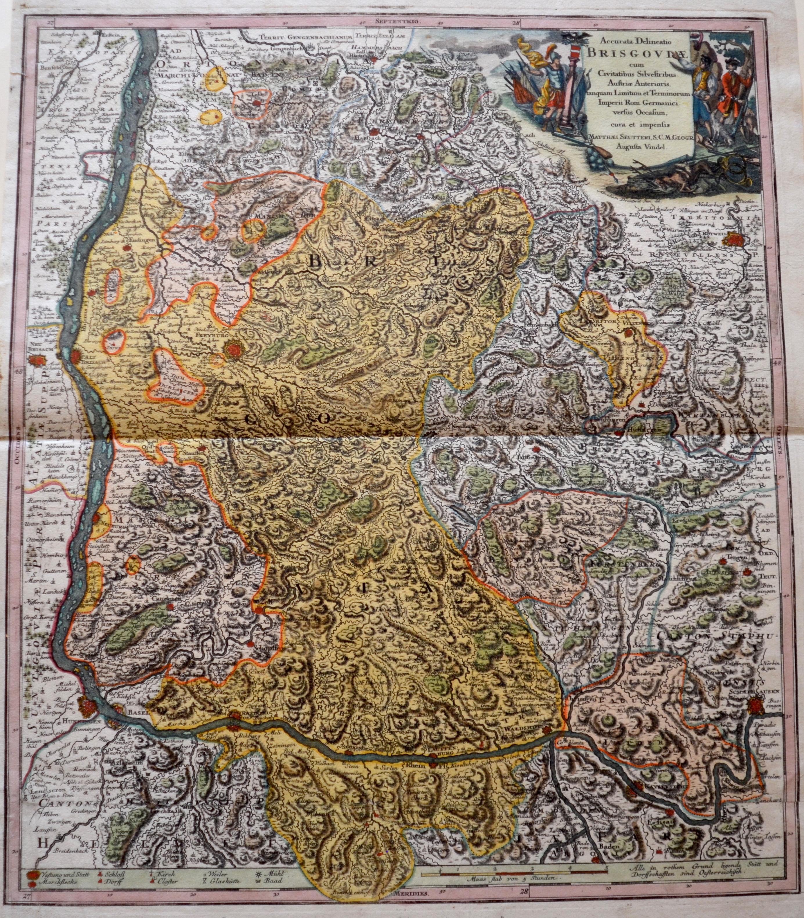 Seutter Matthias Accurata Delineatio Brisgoviae cum Civitatibus Silvestribus Austriae Anterioris,…