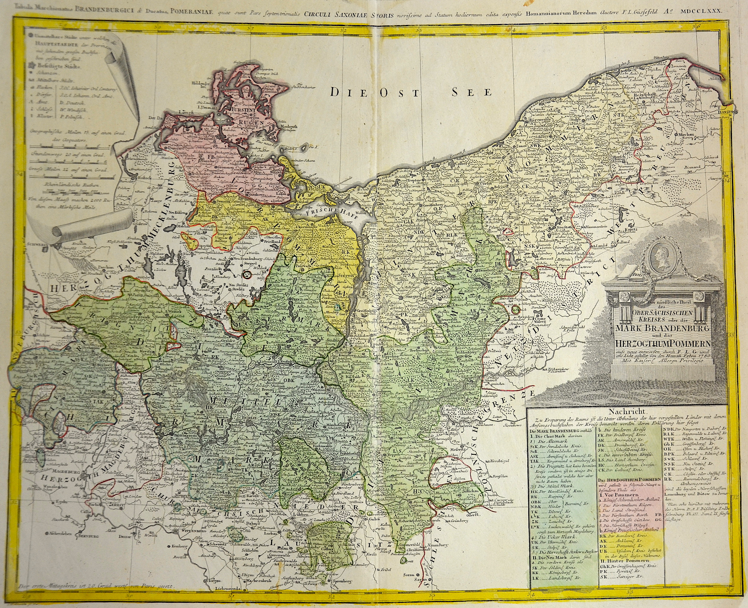 Homann Erben  Der nördliche Theil des Obersächsischen Kreises oder die Mark Brandenburg und das Herzogthum Pommern.