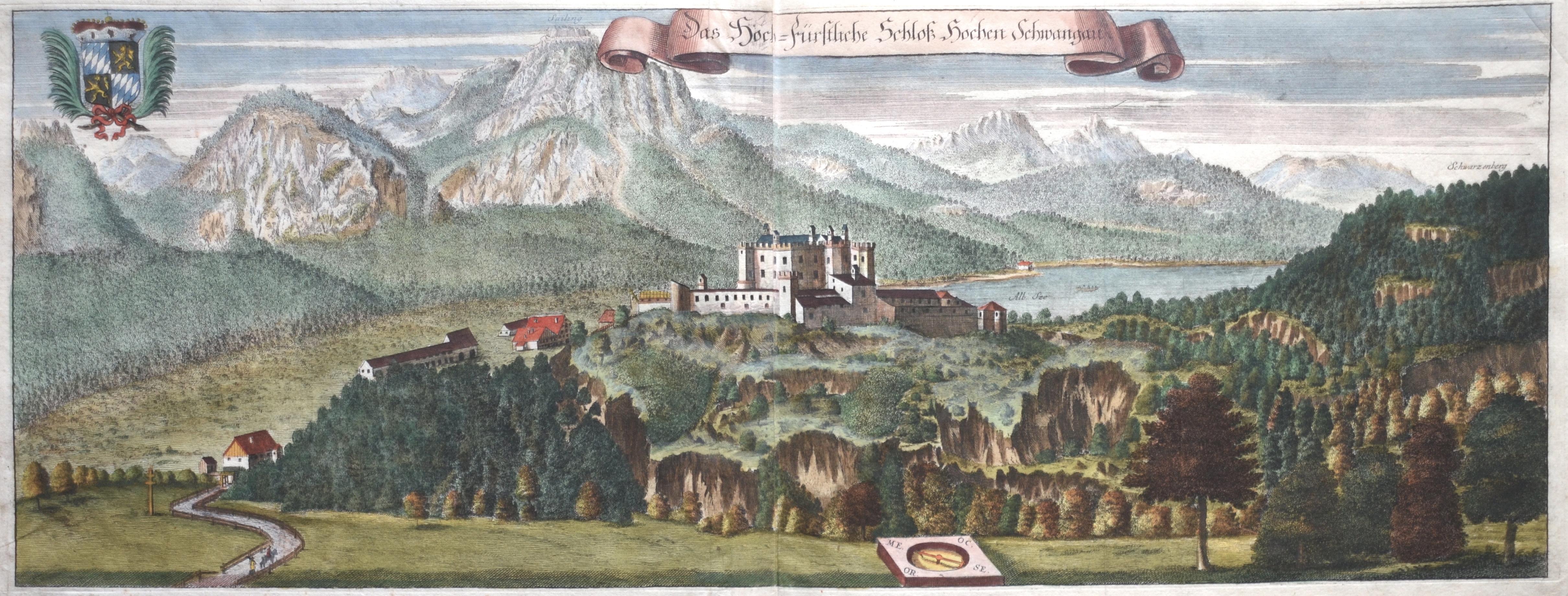 Wening  Das Hoch-Fürstliche Schloß Hohen Schwangau.