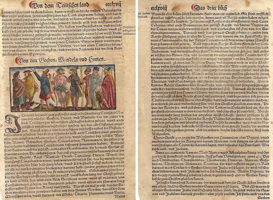Münster  Von dem Teütschen land / Von den Gothen / Wandeln und Hunen.