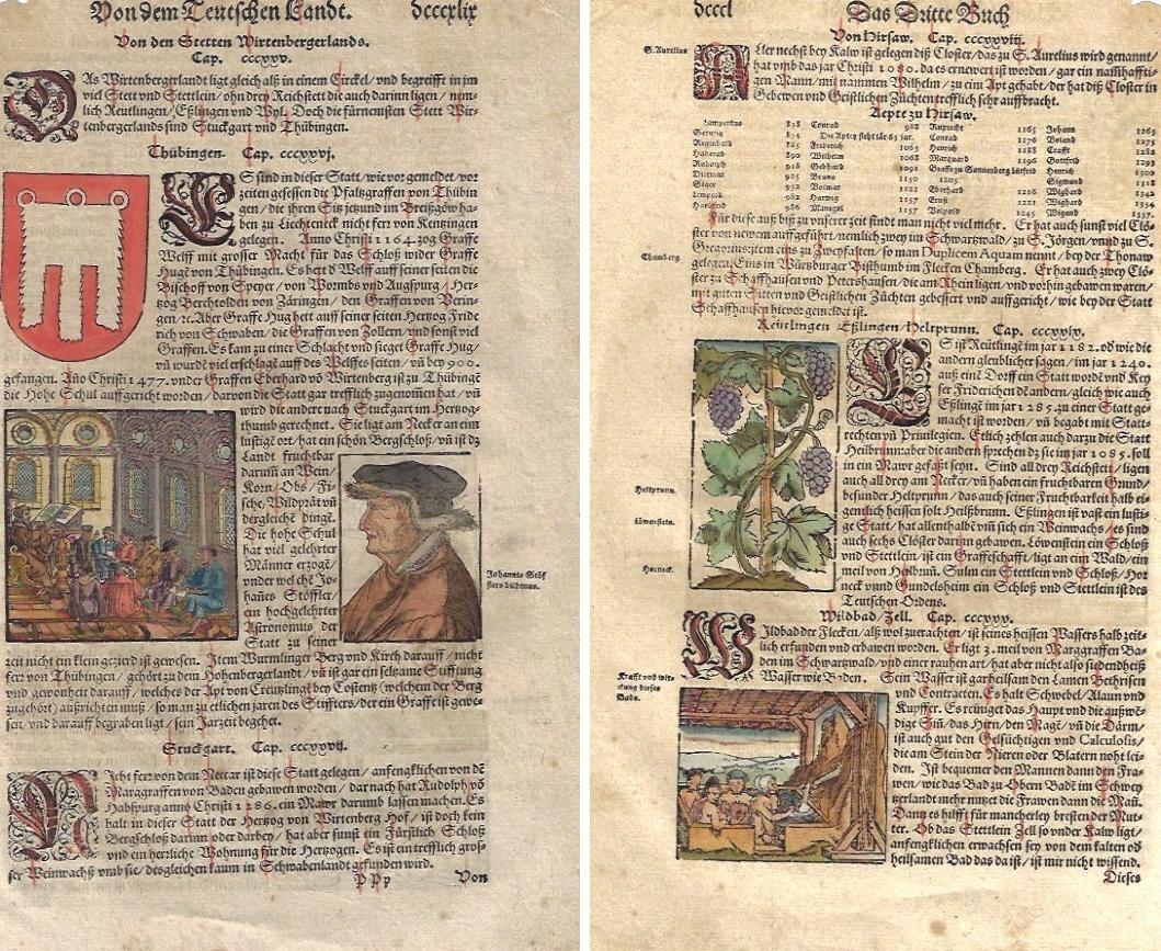 Münster Sebastian Von dem Teutschen Landt. Von den Stetten Wirtenbergerlands.