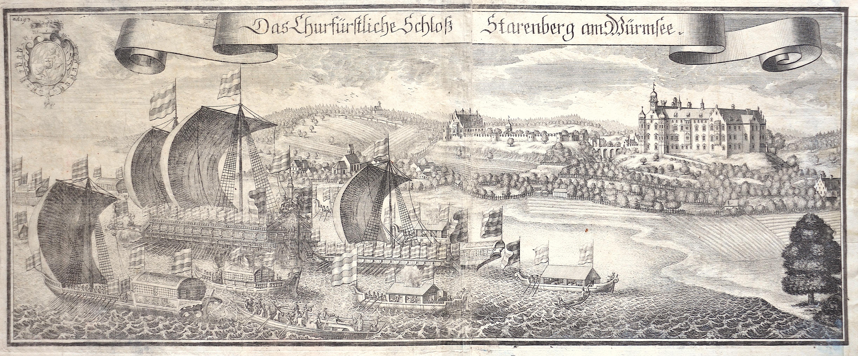 Wening Michael Das Churfürstliche Schloß Starenberg am Würmsee.