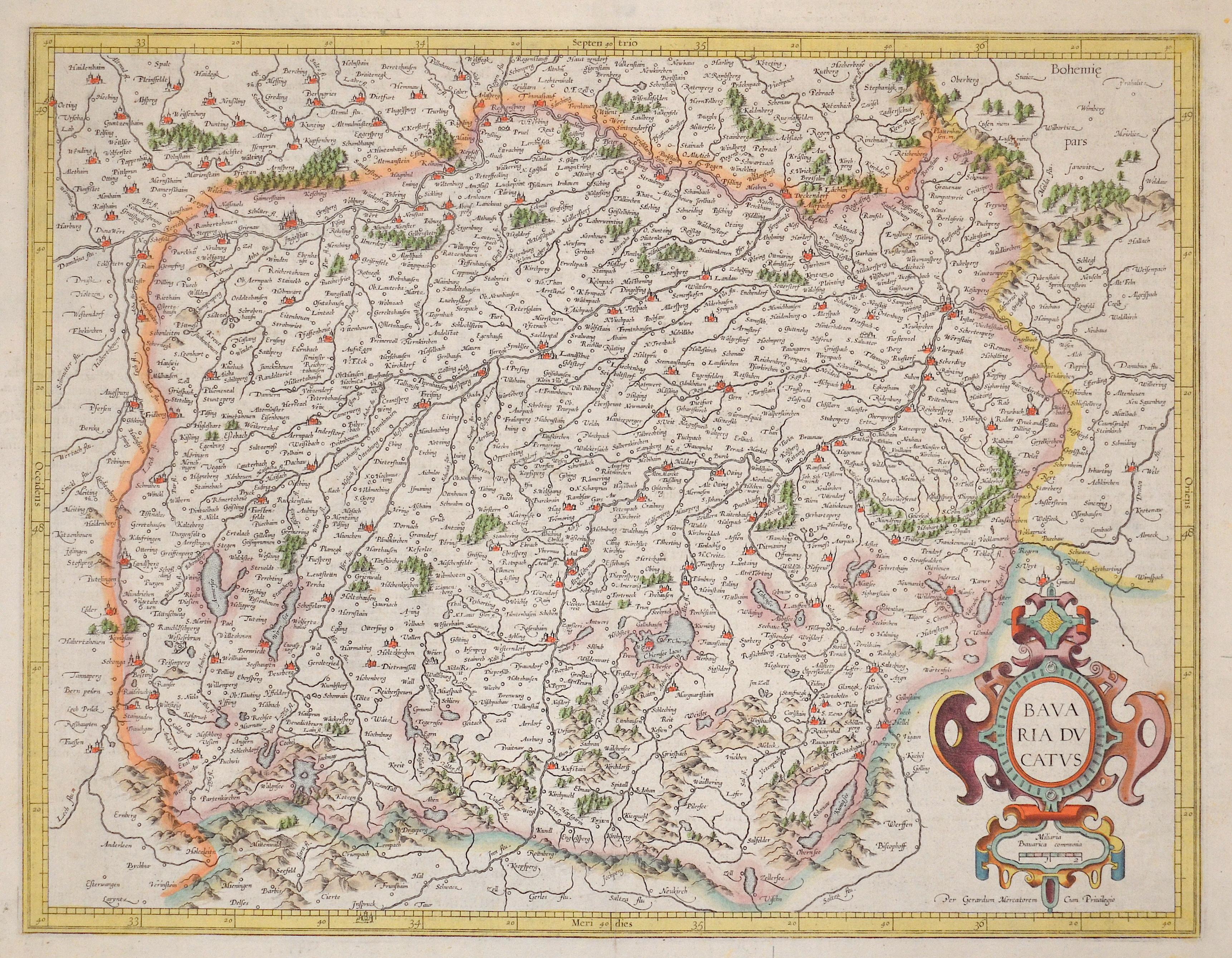 Mercator Gehard Bavaria ducatus