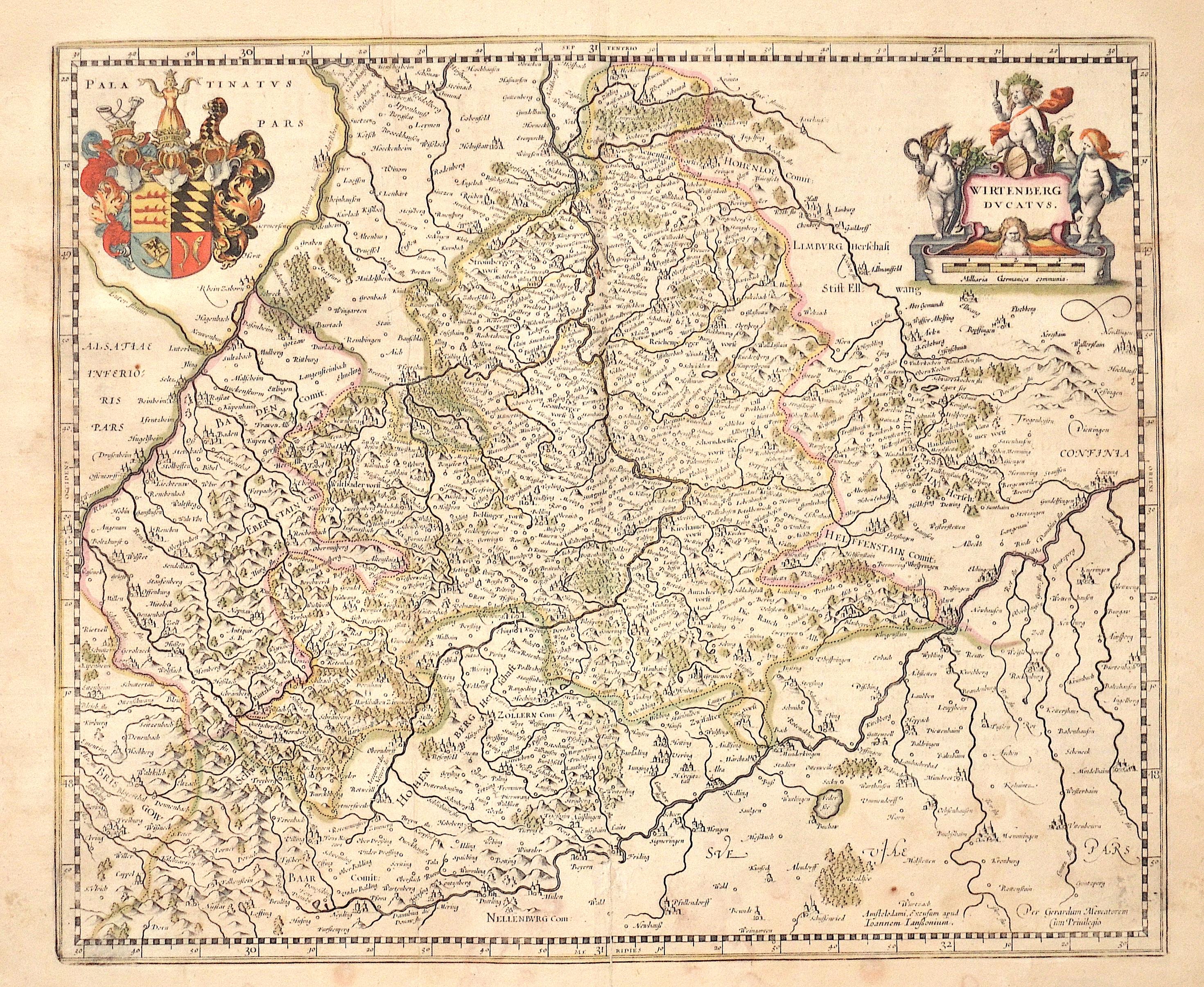 Janssonius/Mercator-Hondius, H. Johann Wirtenberg Ducatus.