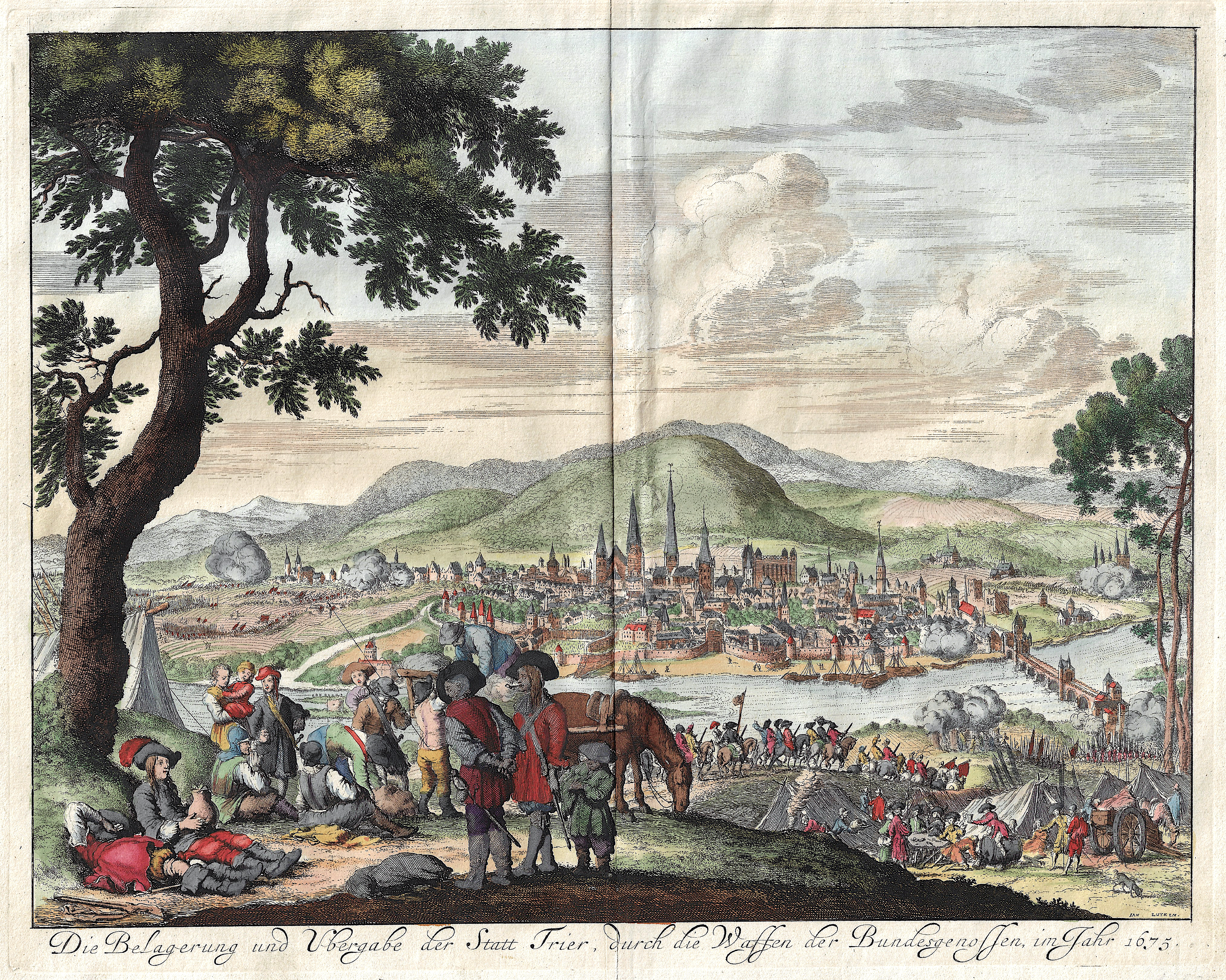 Luyken Jan Die Belagerung und Ubergabe der Statt Trier, durch die Waffen der Bundesgenossen, im Jahr 1675.