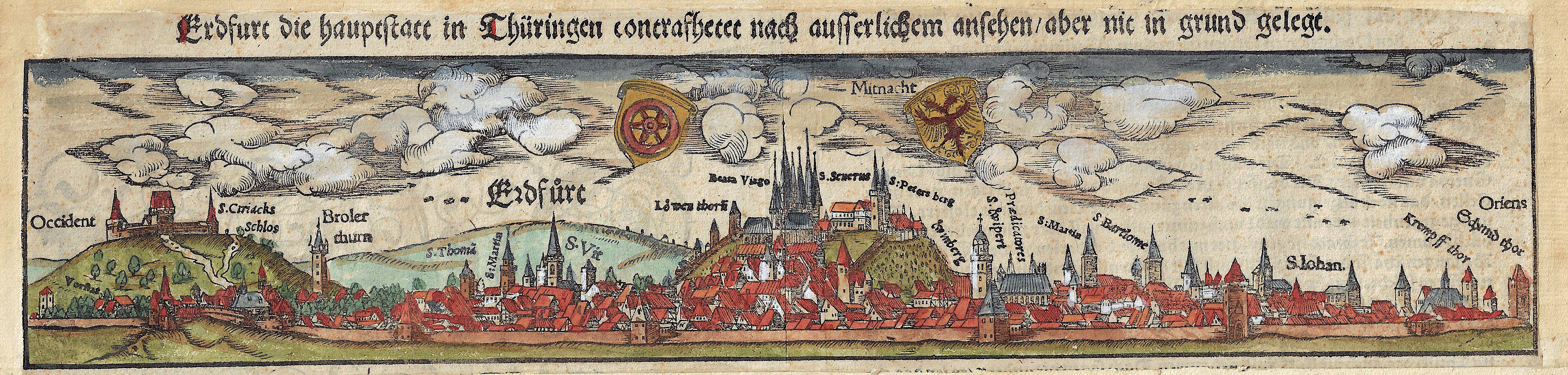 Münster  Erdfurt die hauptstatt in Thüringen contrafhetet nach ausserlichem ansehen / aber nit in grund gelegt.