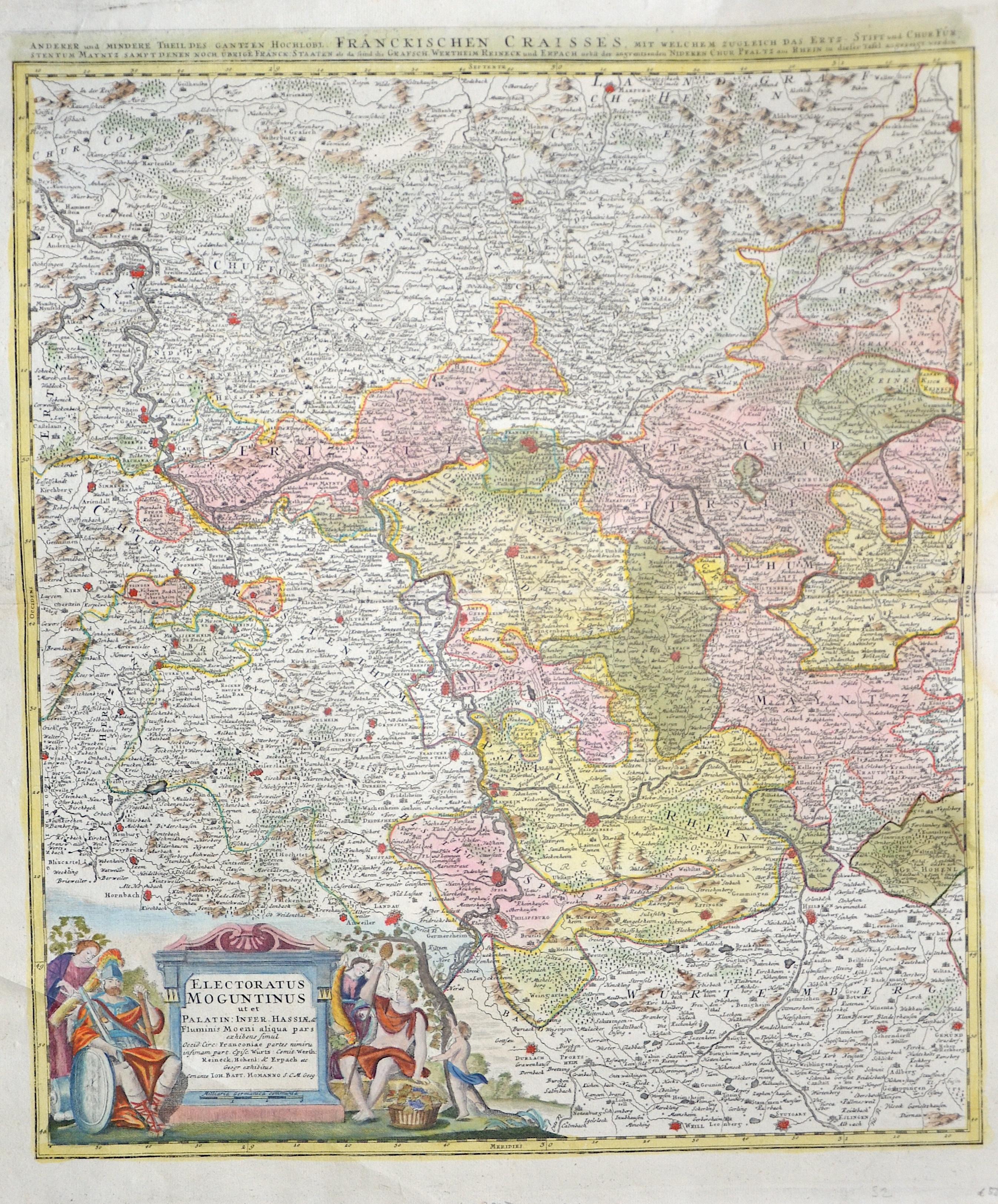 Homann Johann Babtiste Electoratus Moguntinus ut et Palatin: Infer. Hassiae, & /Anderer und mindere Theil des gantzen hochlöbl. Fränckischen Craisses,..