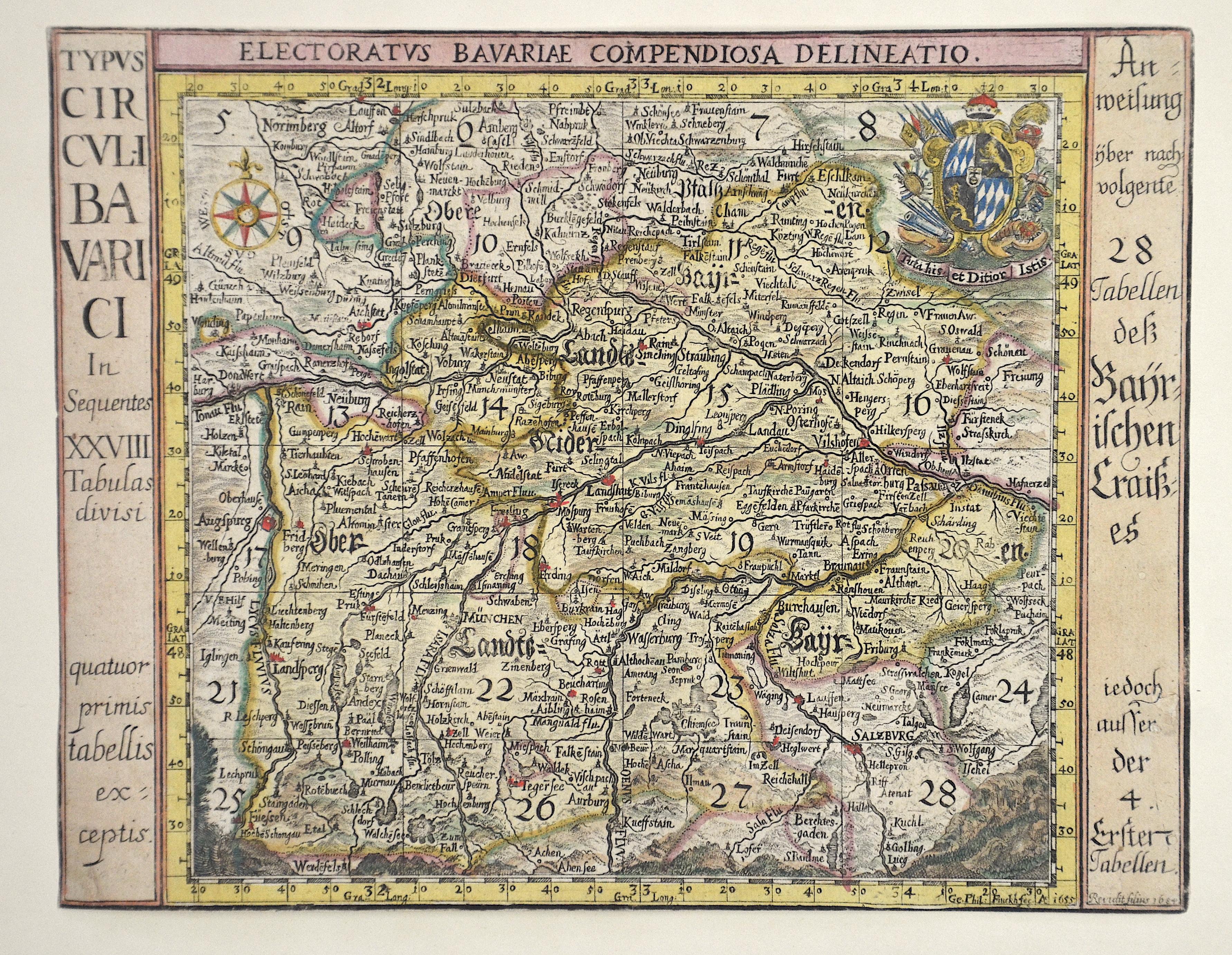 Finckh Georg Philipp Typus Circuli Bavarici in Sequentes XXVIIITabulas divisi