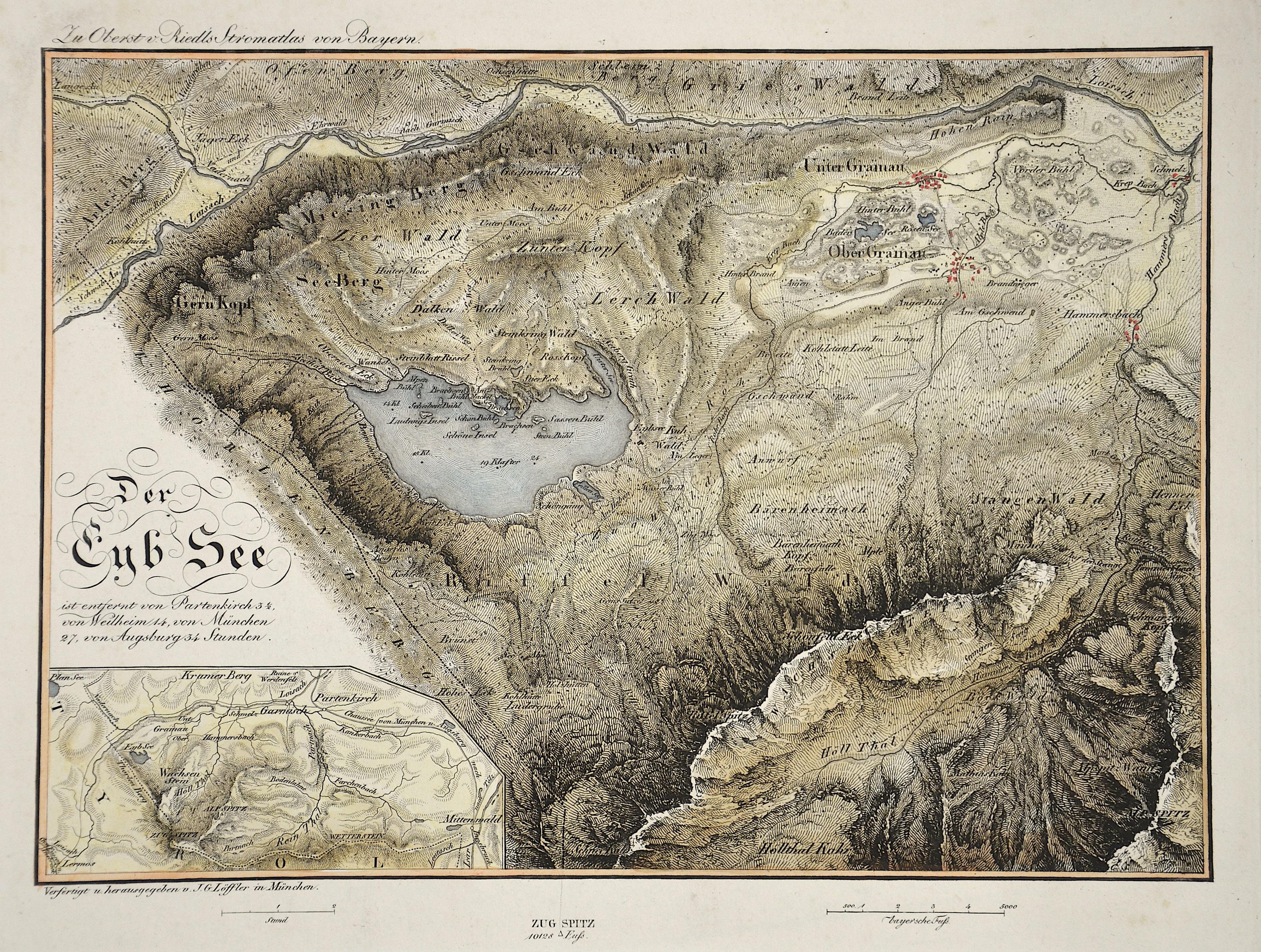 Riedl Adrian von Der Eyb See ist entfernt von Partenkirchen..