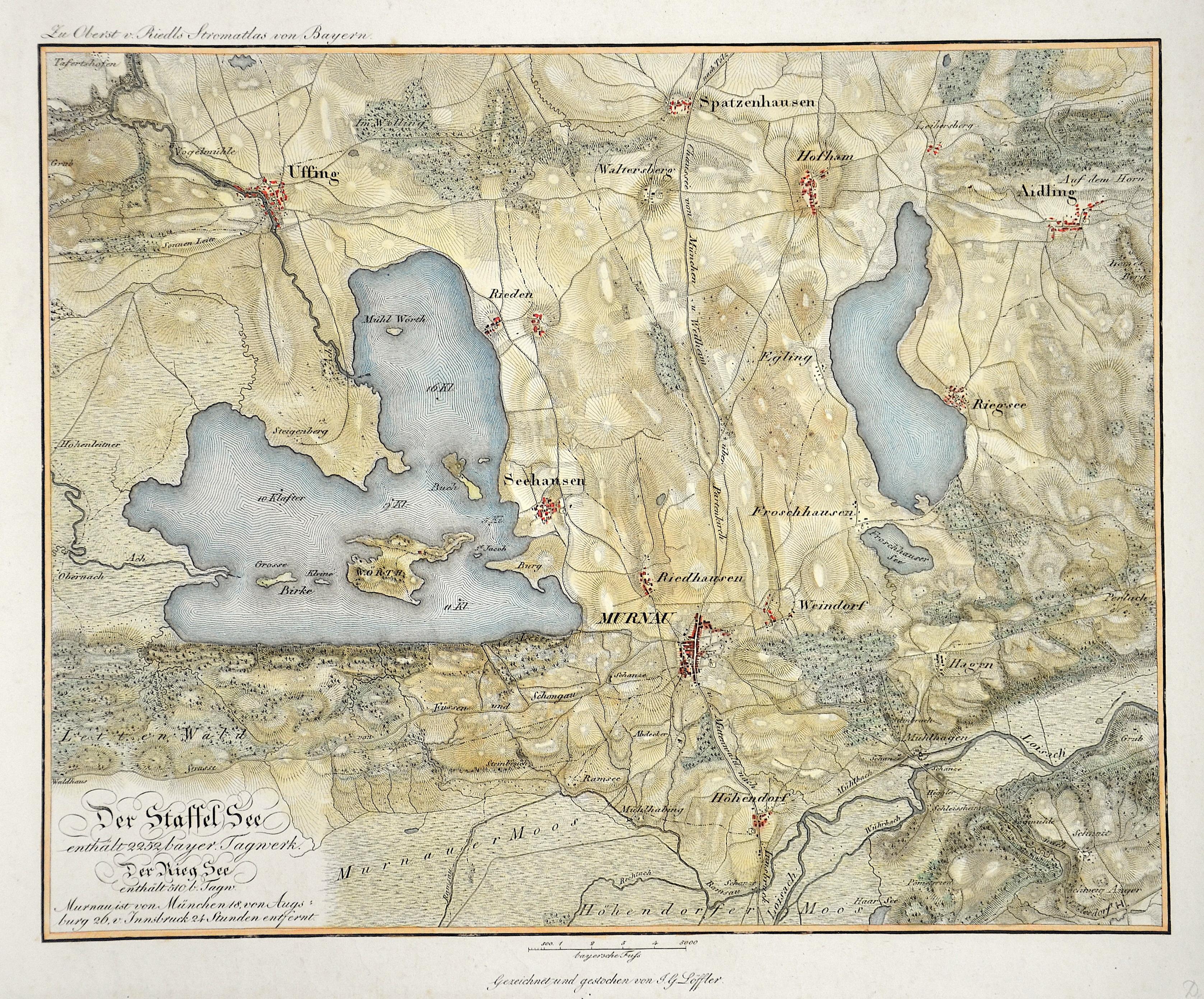 Riedl Adrian von Der Staffel See enthält 2252 bayer. Tagwerk. Der Rieg See enthält 510 b. Tagw.