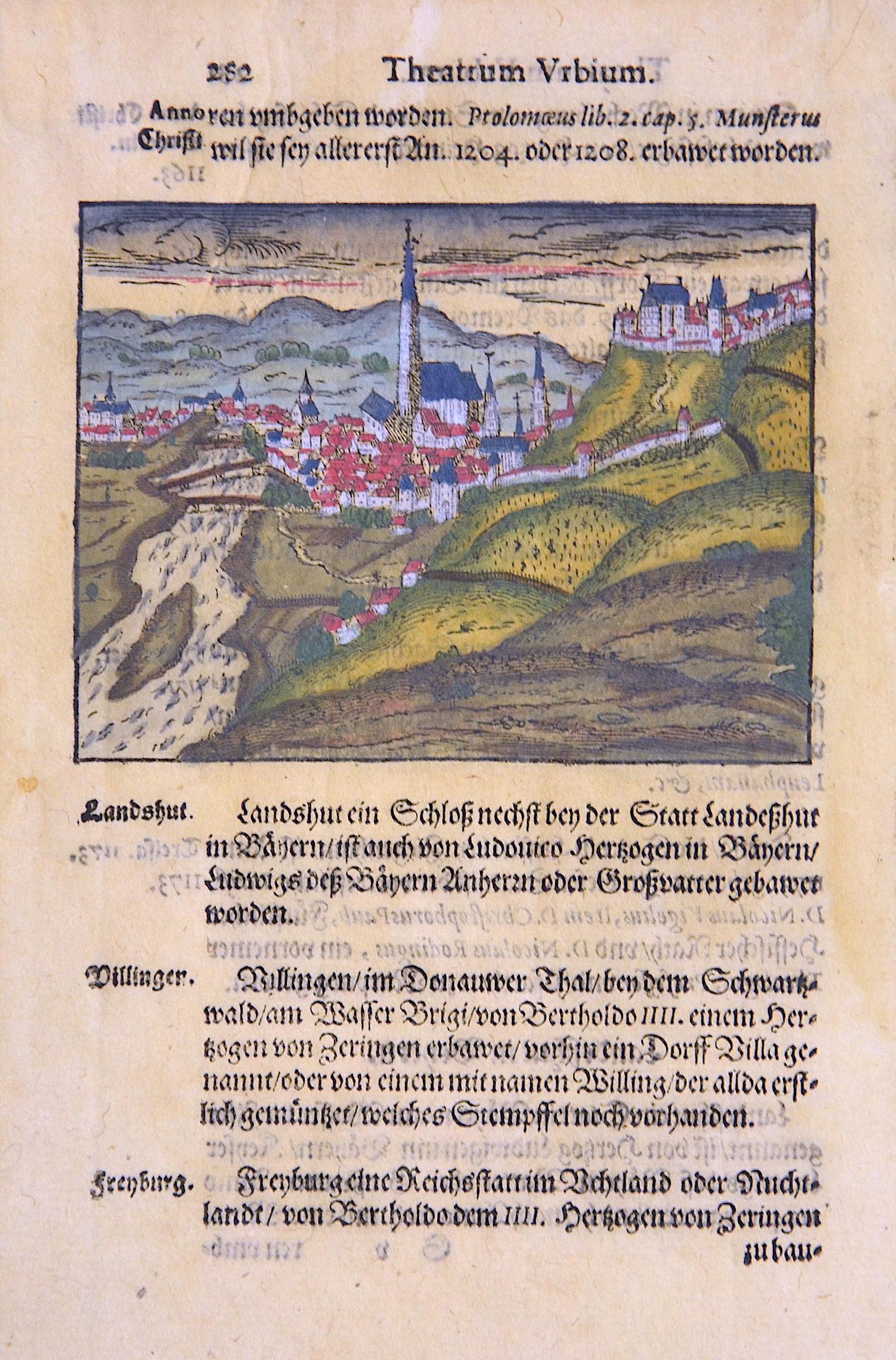 Saur Abraham Theatrum Urbium. Landshut.