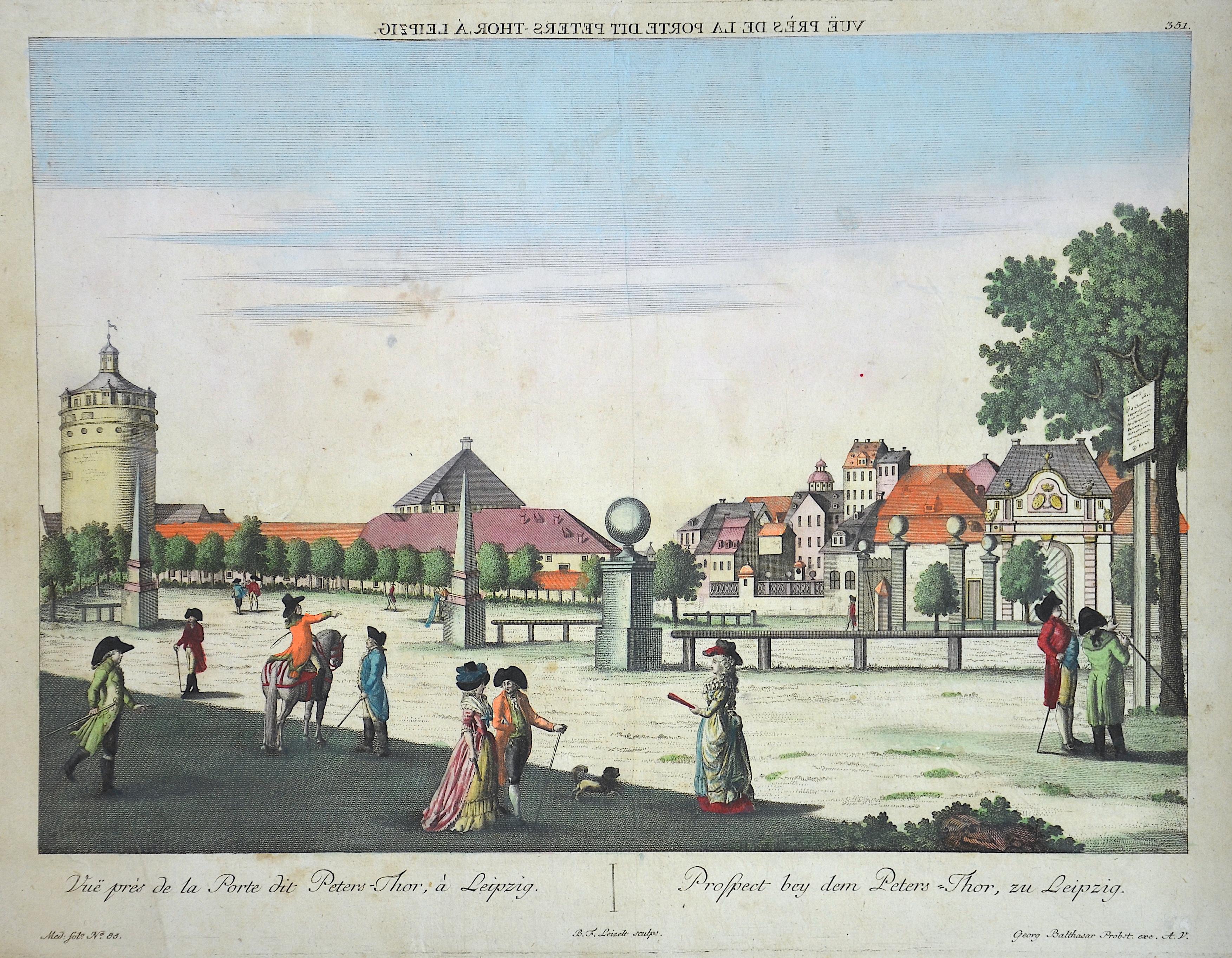 Probst  Vue près de la Porte dit Peters-Thor, à Leipzig. / Prospect bey dem Peters-Thor, zu Leiptzig.