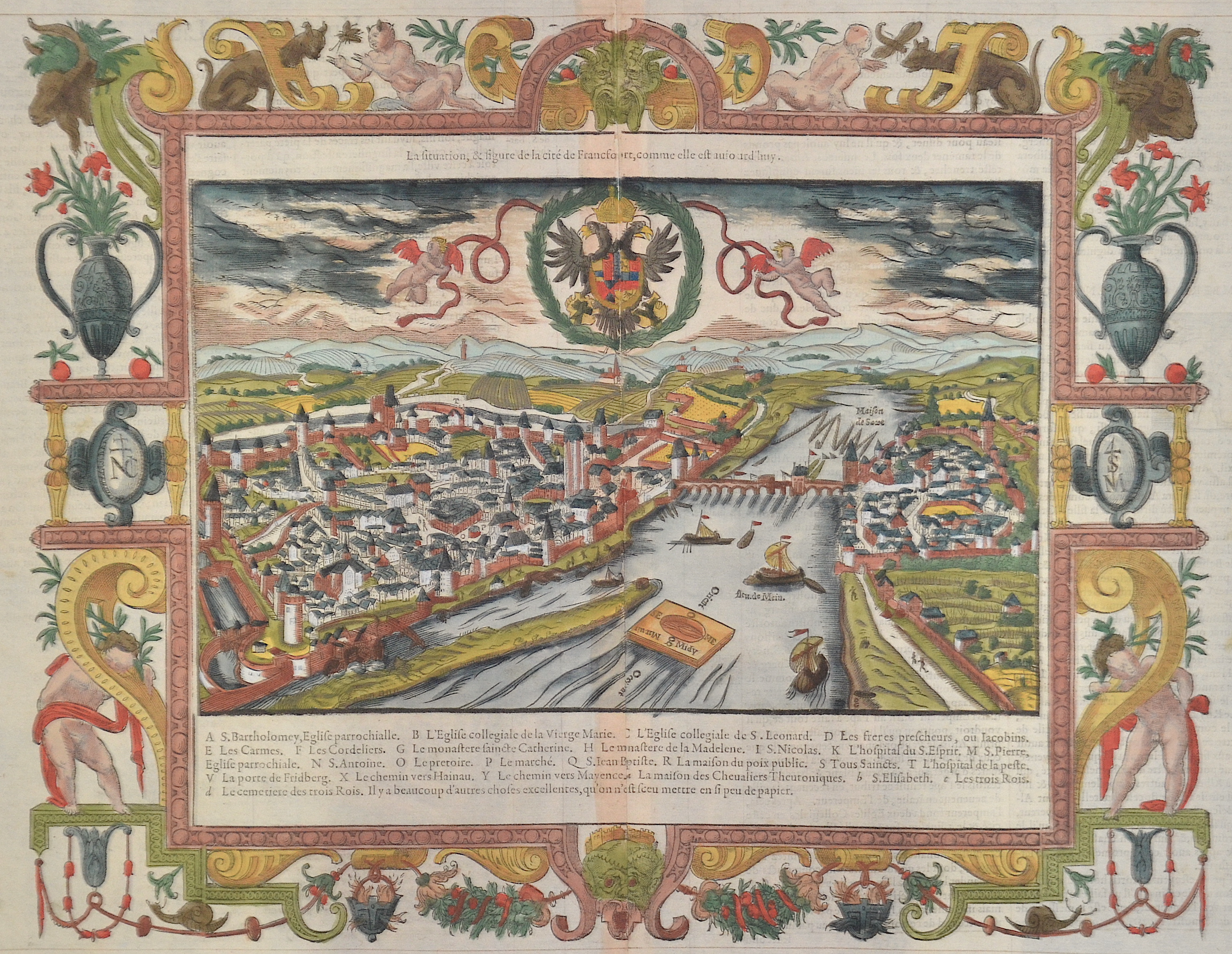 Münster  La situation, et figure de la cité de Francfort, comme elle est auio ard'huy.-