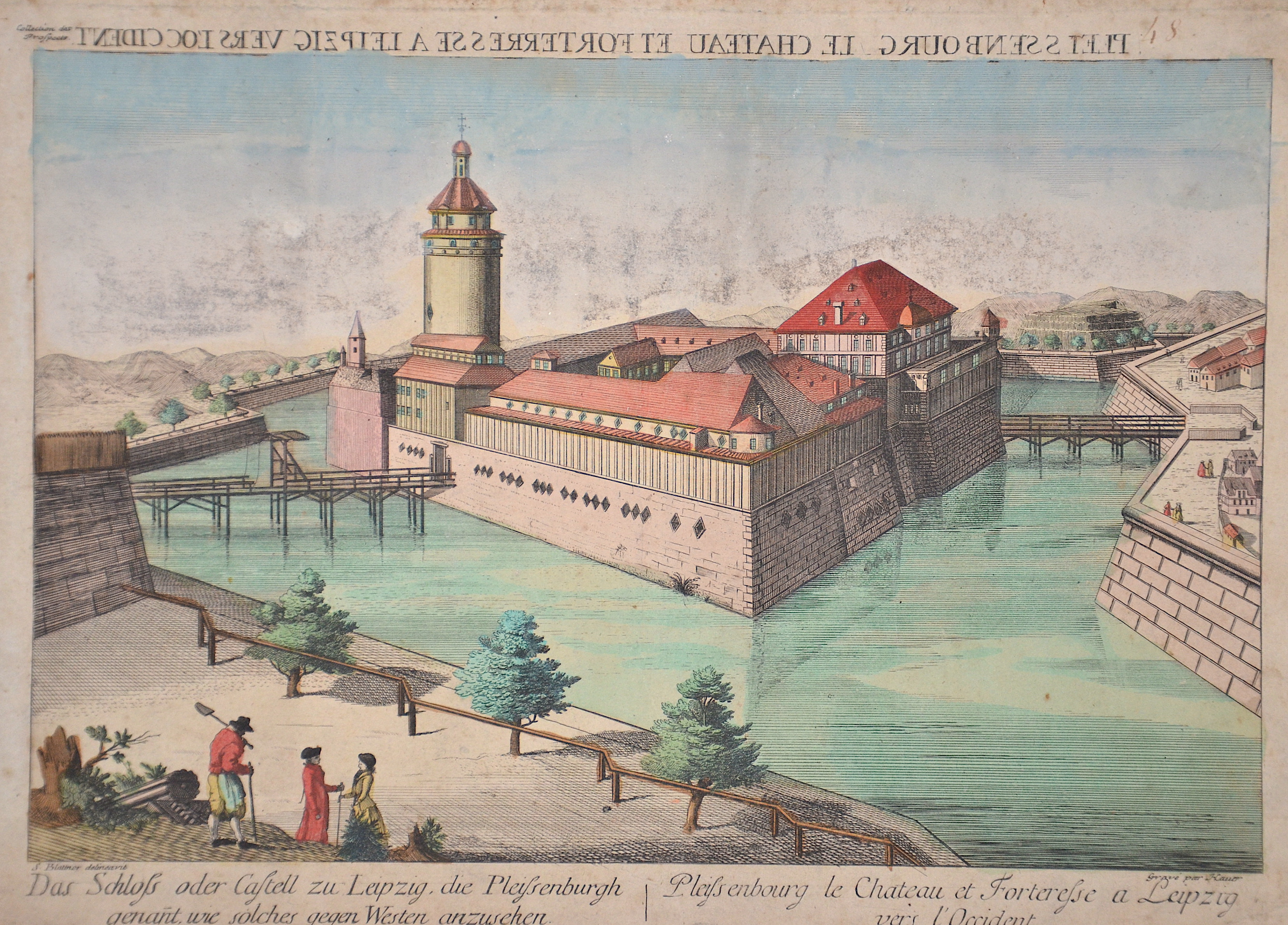 Hauer  Das Schloß oder Castell zu Leipzig, die Pleissenburgh genannt, wie solches gegen Westen anzuzsehen.