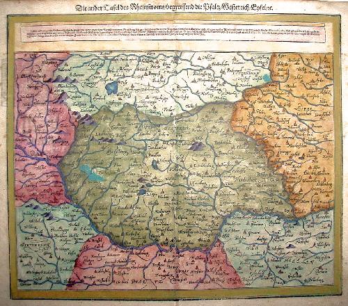 Münster  Die ander Tafel des Rheinstoms/begreiffend die Pfalz/Westerreich/Eyfel