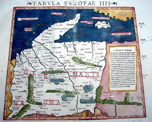 Ptolemy/Münster Sebastian  Tabula Europae IIII ( Germaniam maganm)