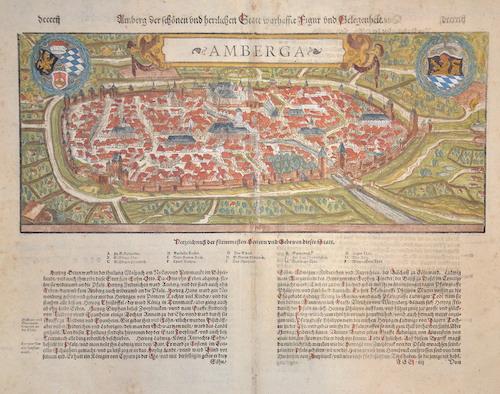 Münster  Amberg der schönen herzlichen Statt wahrhaffe Figur und Gelegenheit