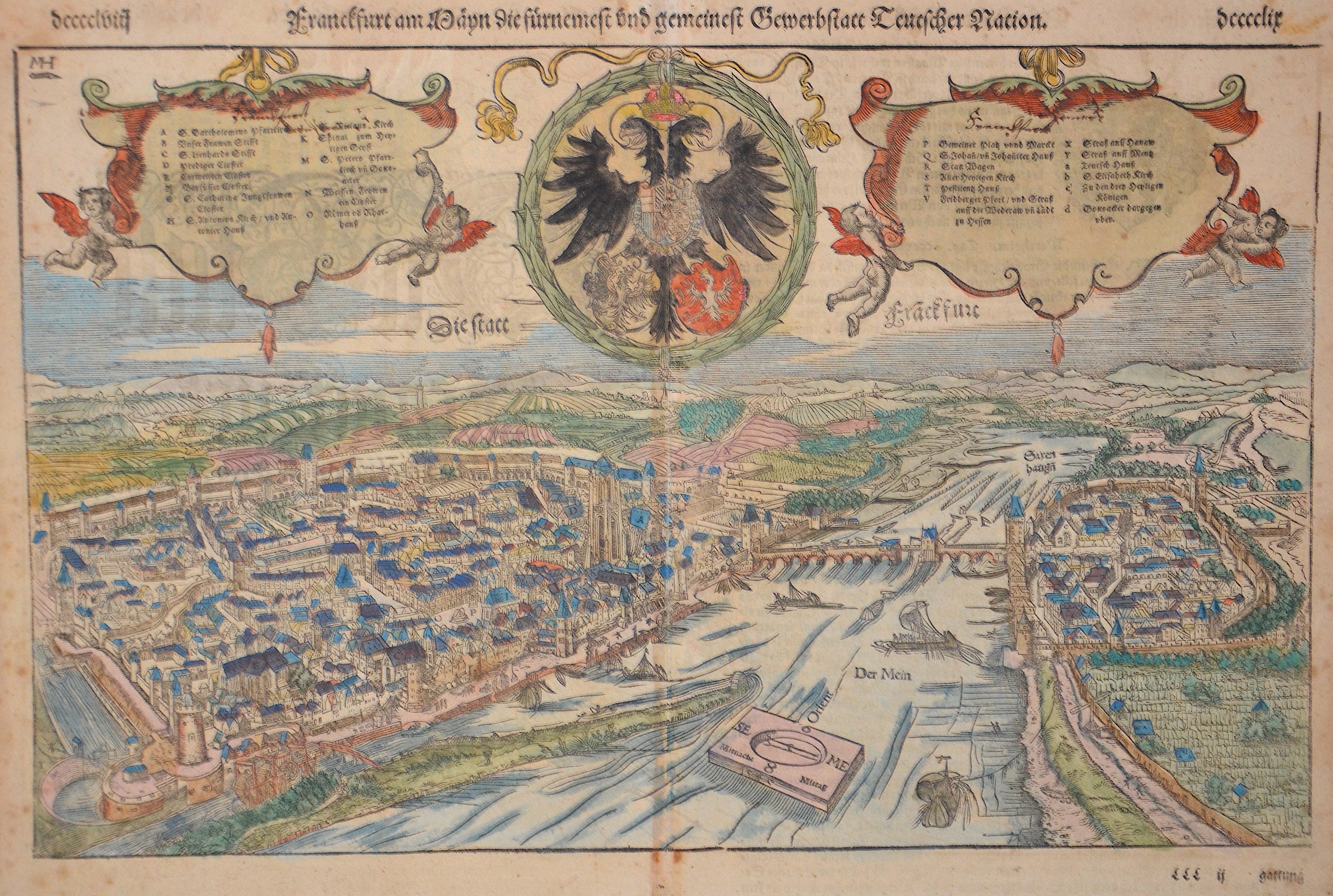 Münster  Fankfurt am Mayn die fürnembste und gemeinest Bewerbstatt Deutscher Nation