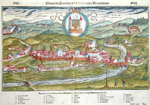 Münster Sebastian Plawen der Hauptstatt Nariscia wahre Abcontrafactur