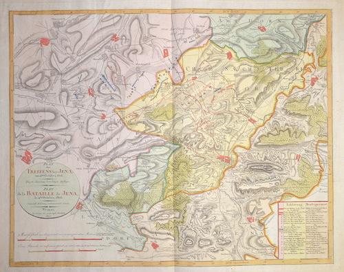 Anonymus  Plan des Treffens bey Jena, am 14. October, 1806