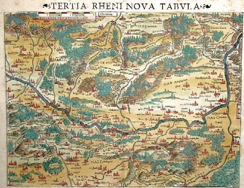 Münster Sebastian Tertia Rheni Nova Tabula