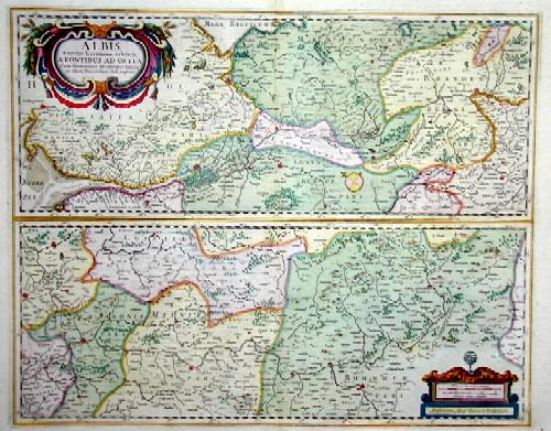 Janssonius/Mercator-Hondius, H. Johann Albis flubius. Germaniae celebris, a fontibus ad ostia