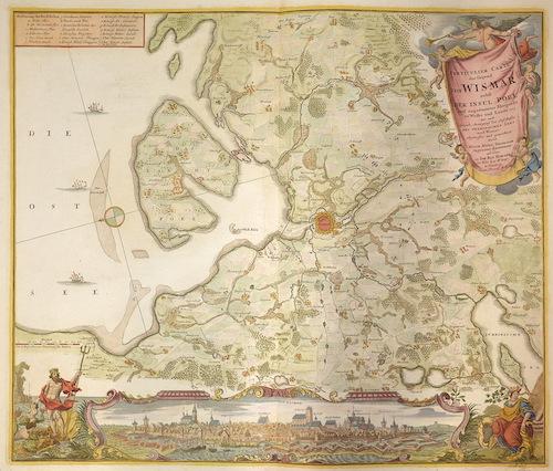 Homann Johann Babtiste Particulier Carte der Gegend von Wismar nebst der Insul Pöel….